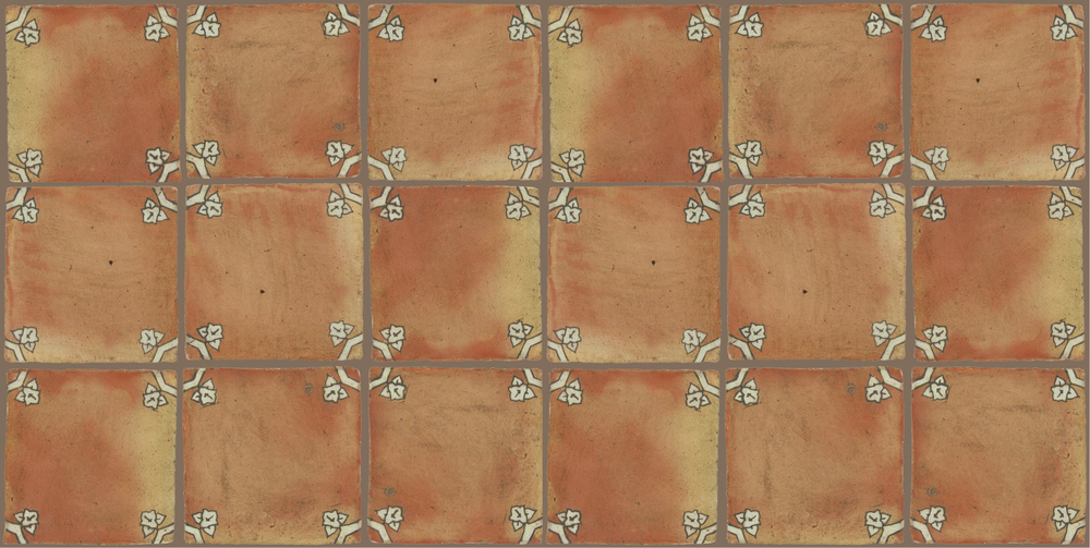 Pedralbes Terracotta: RUGS & PANELS  HAND PAINTED FIRE GLAZED Designs: BASILICA  Designs: GB-01-AW-PSTR