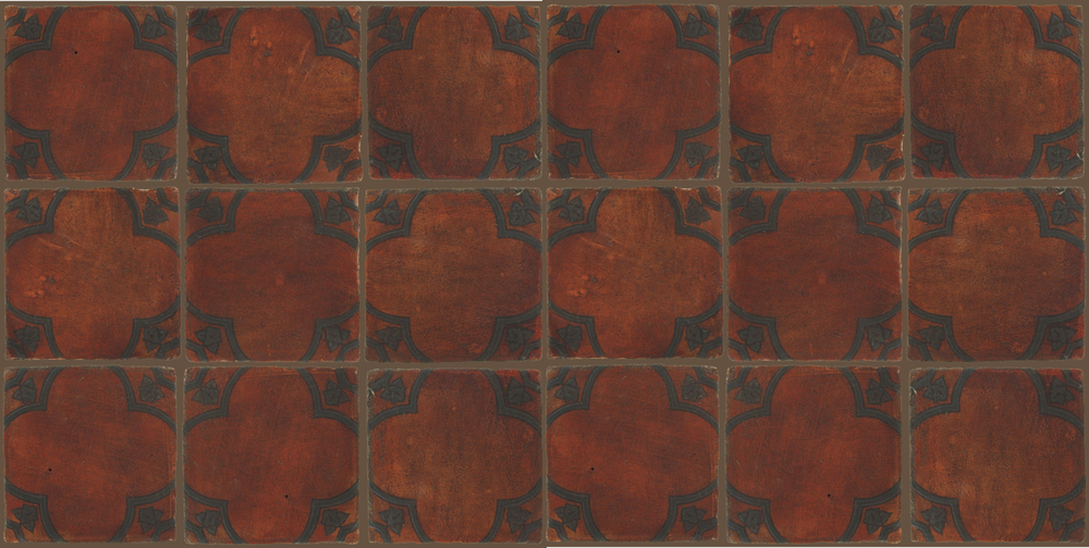 Pedralbes Terracotta: RUGS & PANELS  HAND PAINTED FIRE GLAZED Designs: BASILICA  Designs: GB-03-SB-PSOW