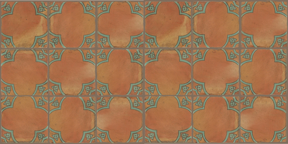 Pedralbes Terracotta: RUGS & PANELS  HAND PAINTED FIRE GLAZED Designs: BASILICA  Designs: GB-03-VG-PSOW