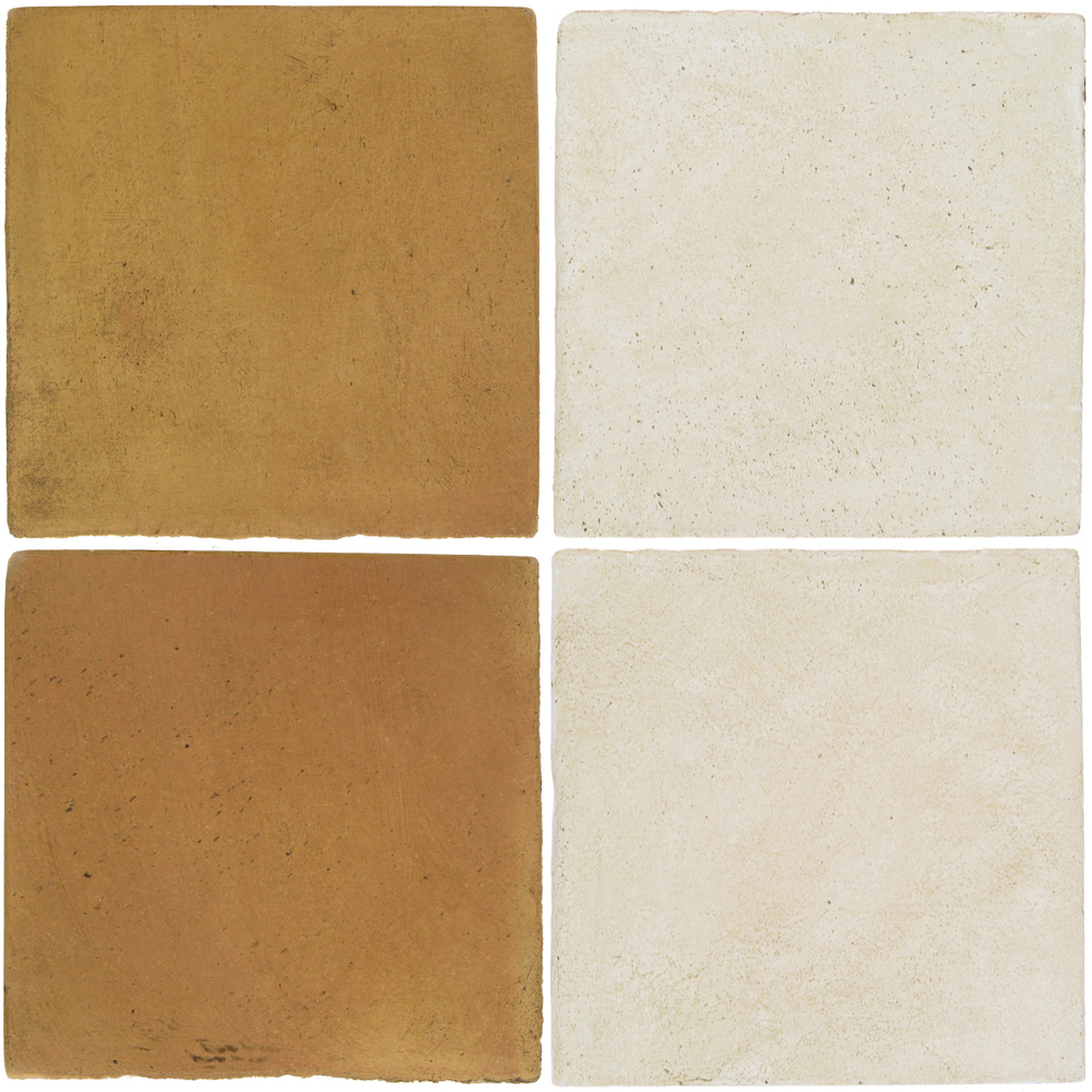 Pedralbes Antique Terracotta  2 Color Combinations  OHS-PSSW Siena Wheat + OHS-PGAW Antique White