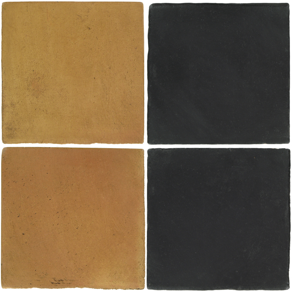 Pedralbes Antique Terracotta  2 Color Combinations  OHS-PSSW Siena Wheat + OHS-PGCB Carbon Black