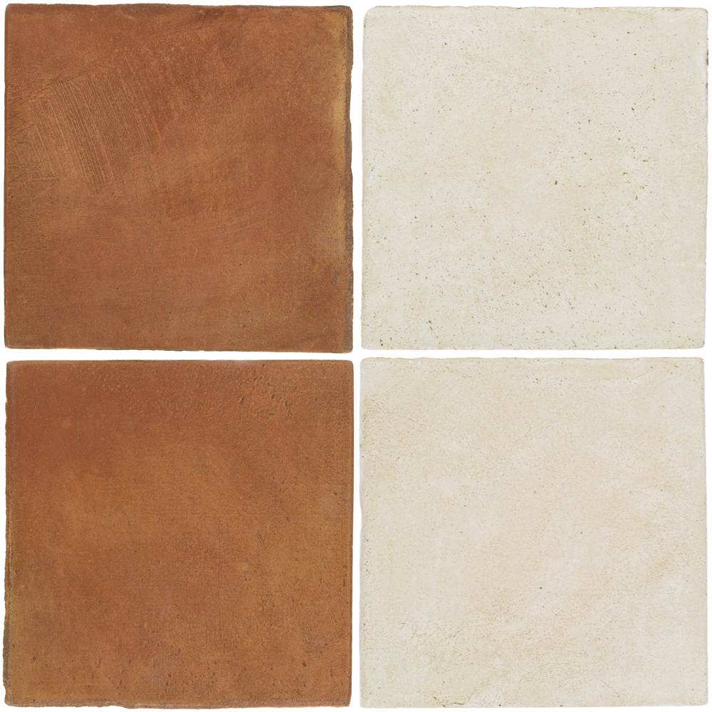 Pedralbes Antique Terracotta  2 Color Combinations  OHS-PSTR Traditional + OHS-PGAW Antique White
