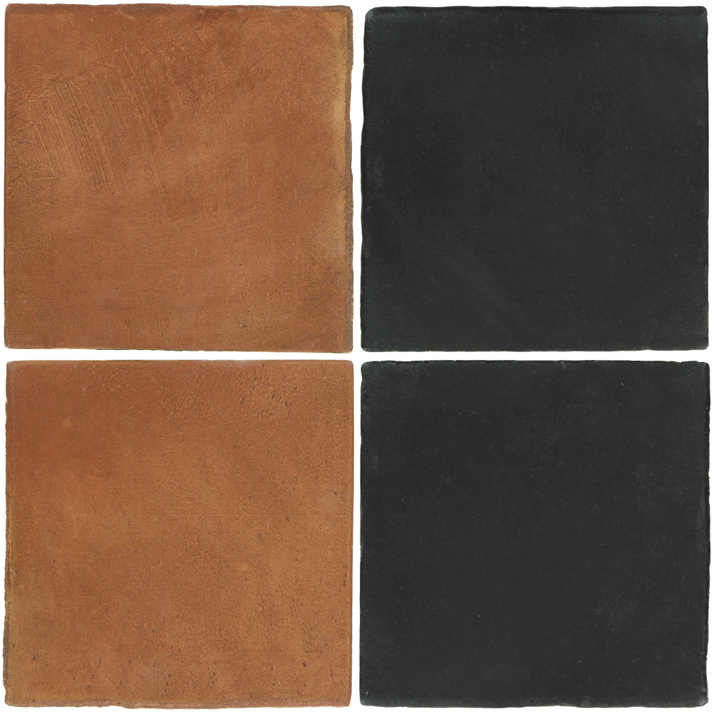 Pedralbes Antique Terracotta  2 Color Combinations  OHS-PSTR Traditional + OHS-PGCB Carbon Black