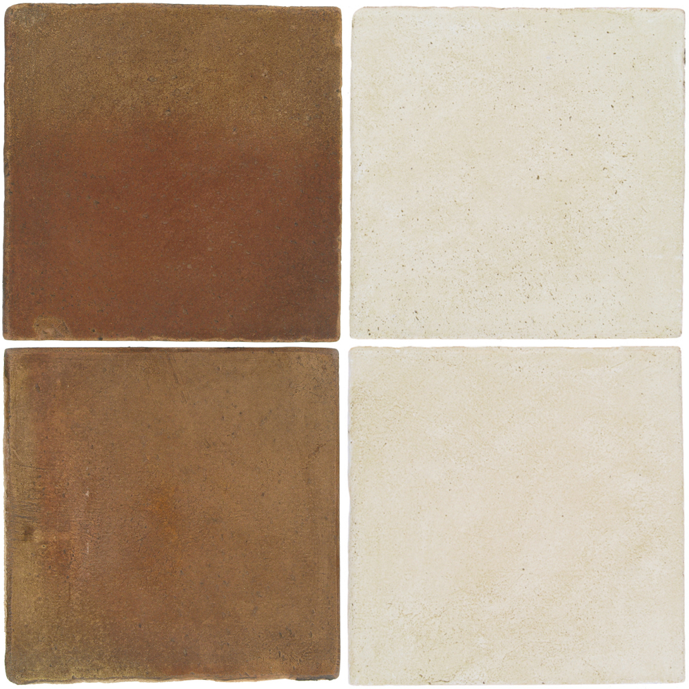 Pedralbes Antique Terracotta  2 Color Combinations  OHS-PSCM Camel Brown + OHS-PGAW Antique White