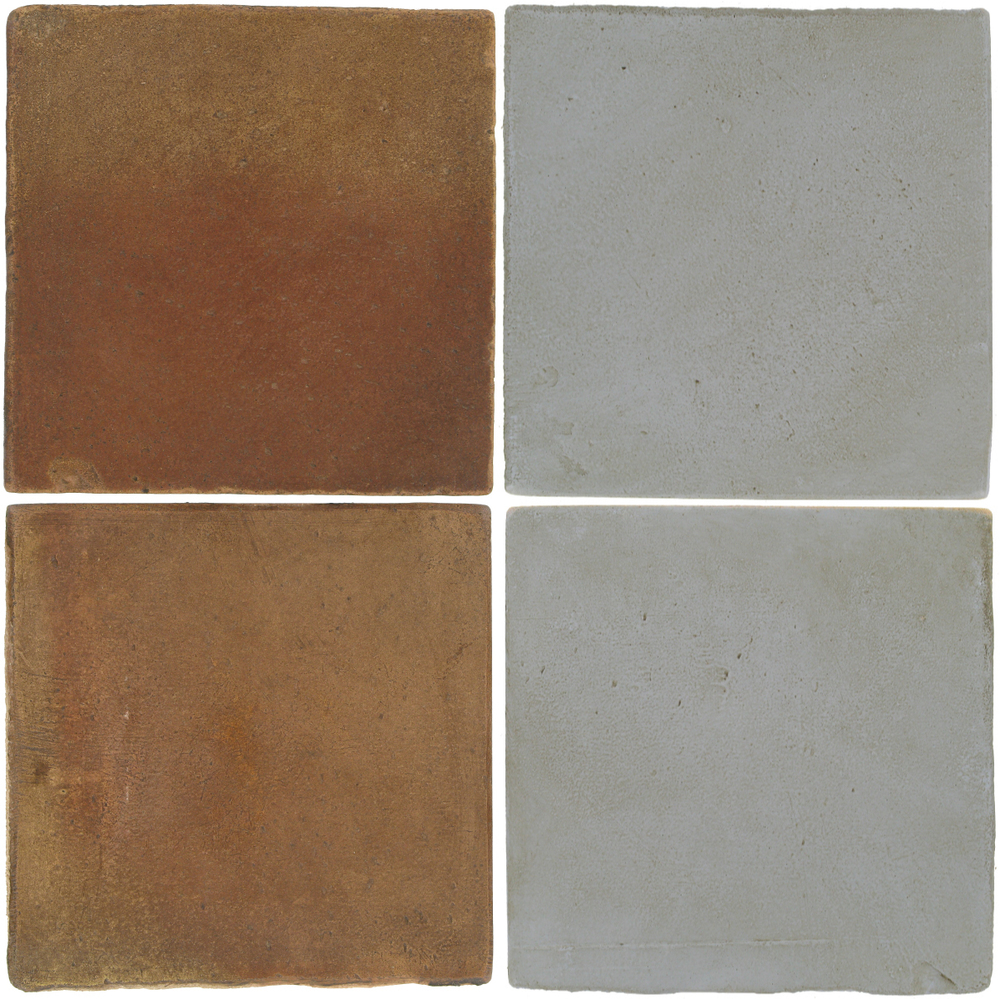Pedralbes Antique Terracotta  2 Color Combinations  OHS-PSCM Camel Brown + OHS-PGOG Oyster Grey