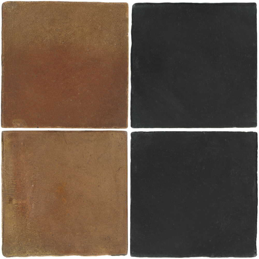 Pedralbes Antique Terracotta  2 Color Combinations  OHS-PSCM Camel Brown + OHS-PGCB Carbon Black