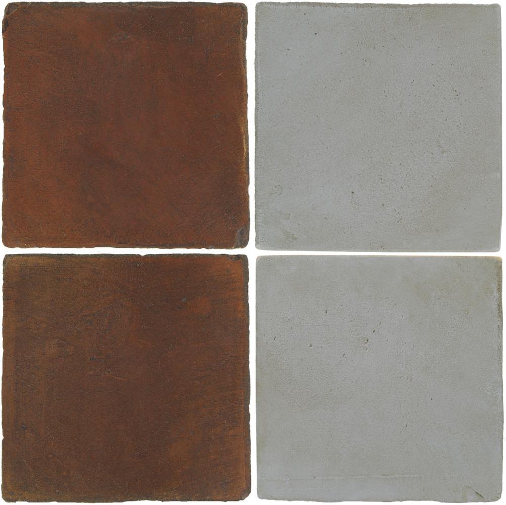 Pedralbes Antique Terracotta  2 Color Combinations  OHS-PSOW Old World + OHS-PGOG Oyster Grey
