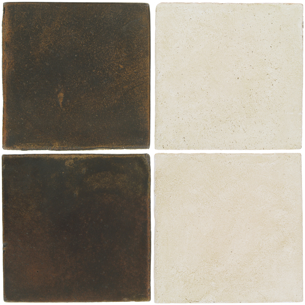 Pedralbes Antique Terracotta  2 Color Combinations  OHS-PSCO Cologne Brown + OHS-PGAW Antique White
