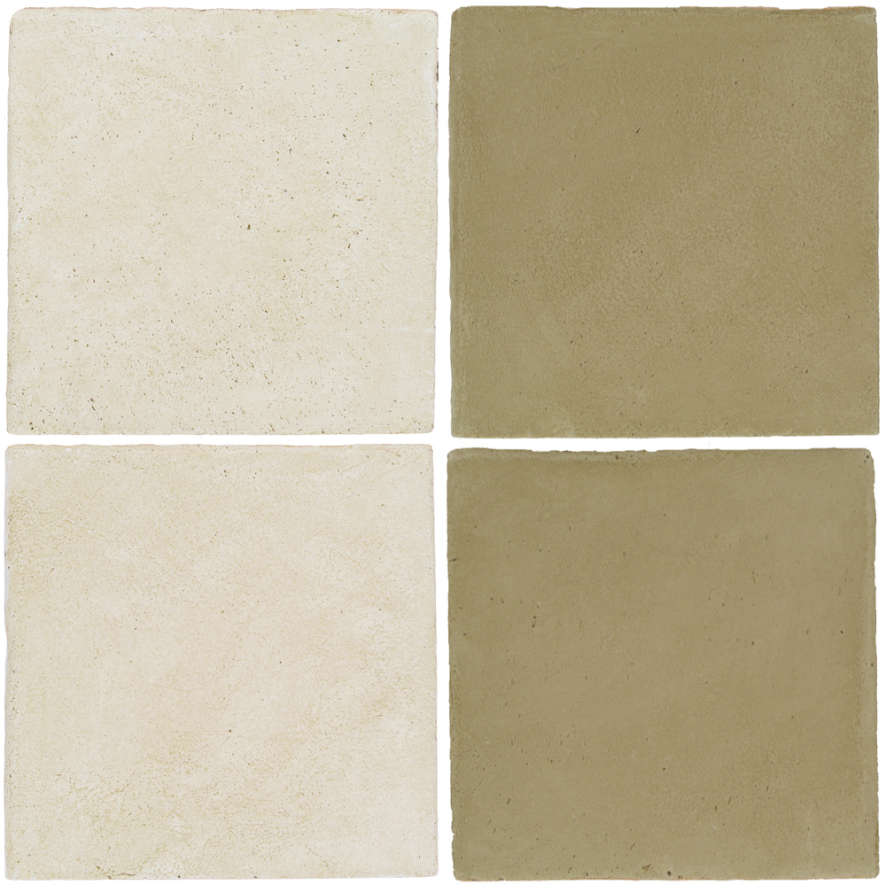 Pedralbes Antique Terracotta  2 Color Combinations  OHS-PGAW Antique White + OHS-PGDW Dirty W.