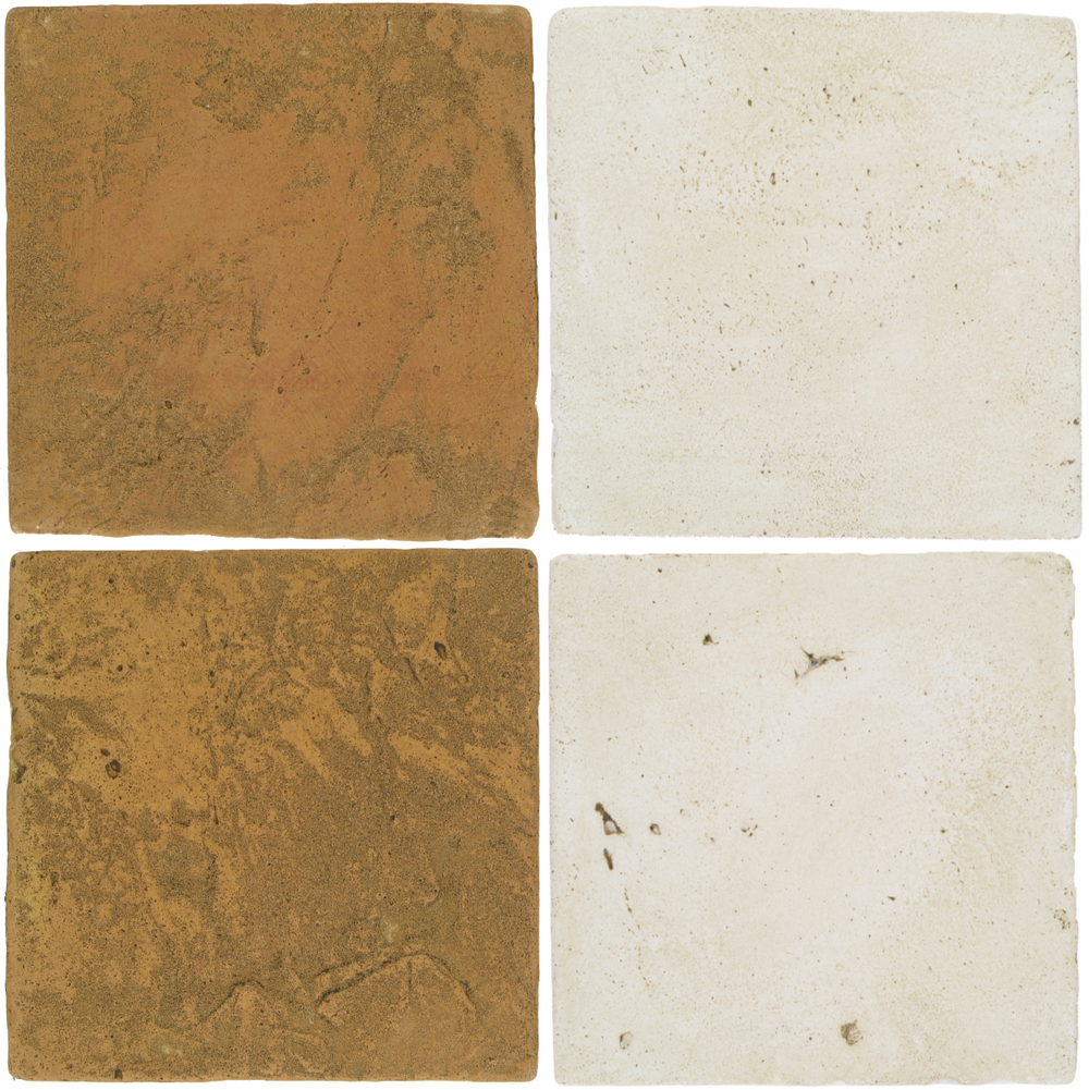 Pedralbes Antique Terracotta  2 Color Combinations  VTG-PSSW Siena Wheat + VTG-PGAW Antique White