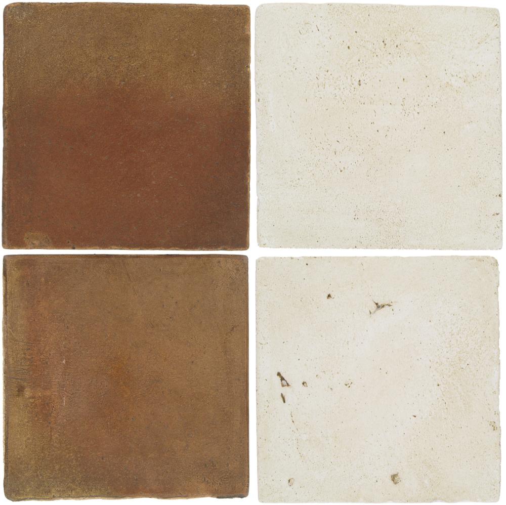 Pedralbes Antique Terracotta  2 Color Combinations  OHS-PSCM Camel Brown + VTG-PGAW Antique White