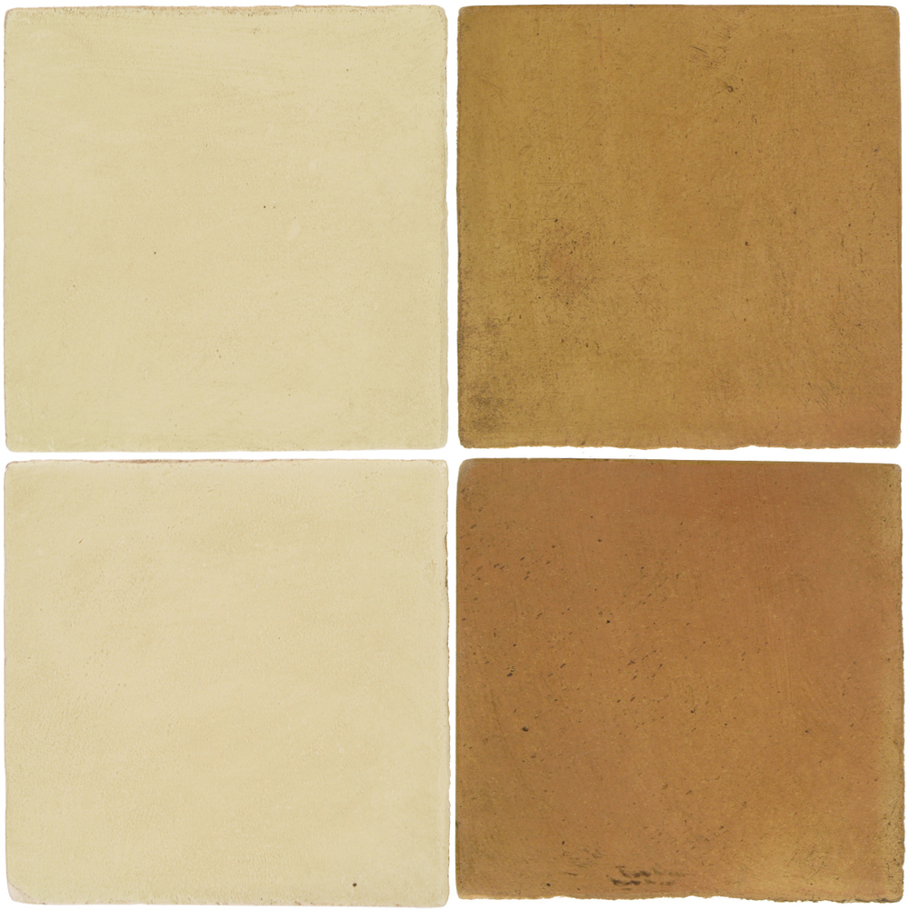 Pedralbes Antique Terracotta  2 Color Combinations  OHS-PGPW Pergamino White + OHS-PSSW Siena Wheat