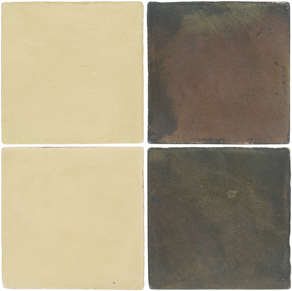 Pedralbes Antique Terracotta  2 Color Combinations  OHS-PGPW Pergamino White + OHS-PSTG Terra Grey