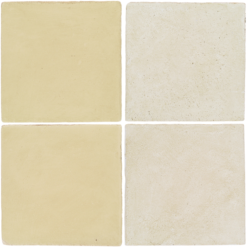 Pedralbes Antique Terracotta  2 Color Combinations  OHS-PGPW Pergamino White + OHS-PGAW Antique White