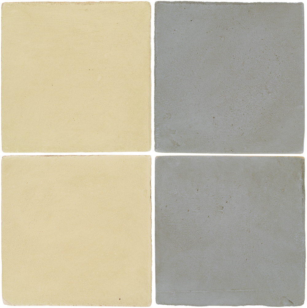 Pedralbes Antique Terracotta  2 Color Combinations  OHS-PGPW Pergamino White + OHS-PGOG Oyster Grey