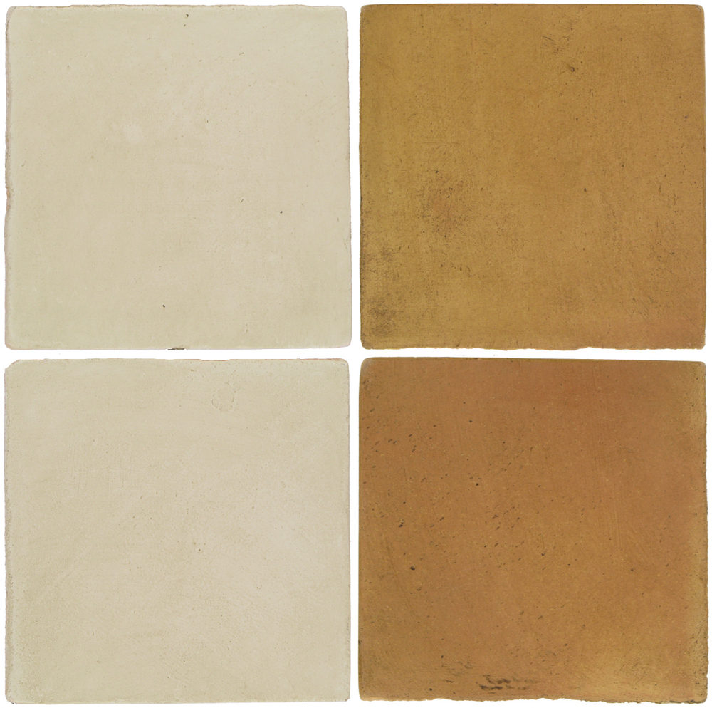 Pedralbes Antique Terracotta  2 Color Combinations  OHS-PGLW Glacier White + OHS-PSSW Siena Wheat