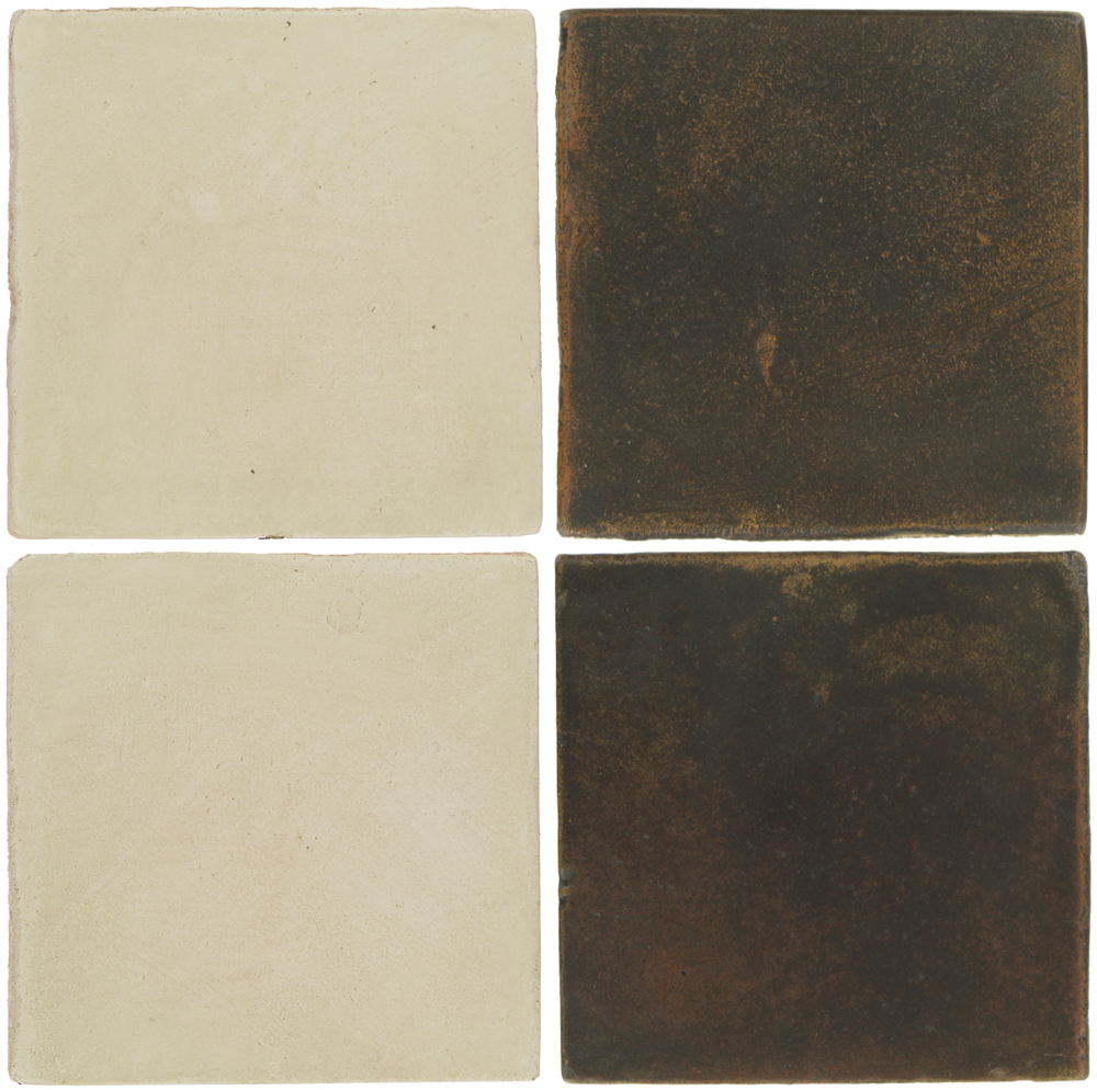 Pedralbes Antique Terracotta  2 Color Combinations  OHS-PGLW Glacier White + OHS-PSCO Cologne Brown