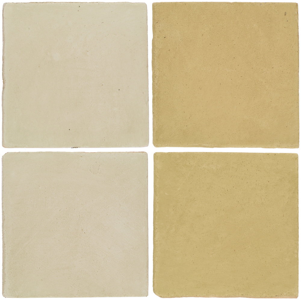 Pedralbes Antique Terracotta  2 Color Combinations  OHS-PGLW Glacier White + OHS-PGGW Golden W.