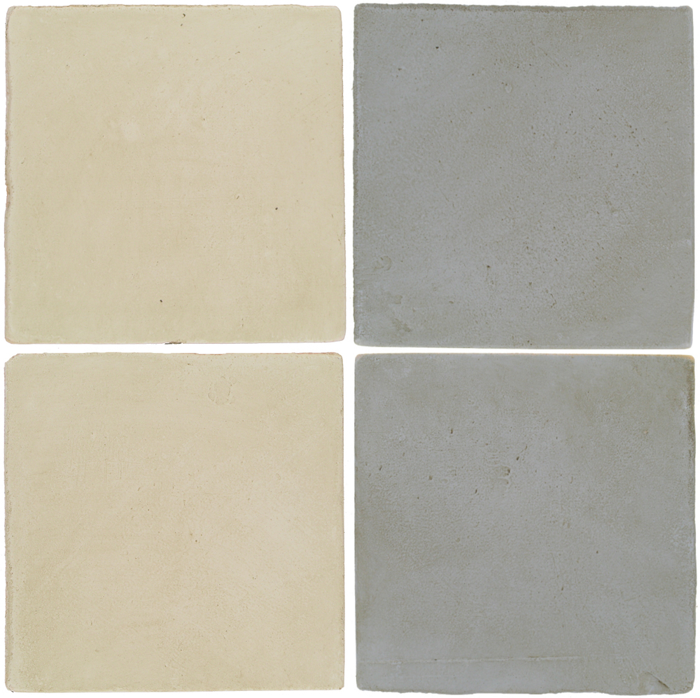 Pedralbes Antique Terracotta  2 Color Combinations  OHS-PGLW Glacier White + OHS-PGOG Oyster Grey