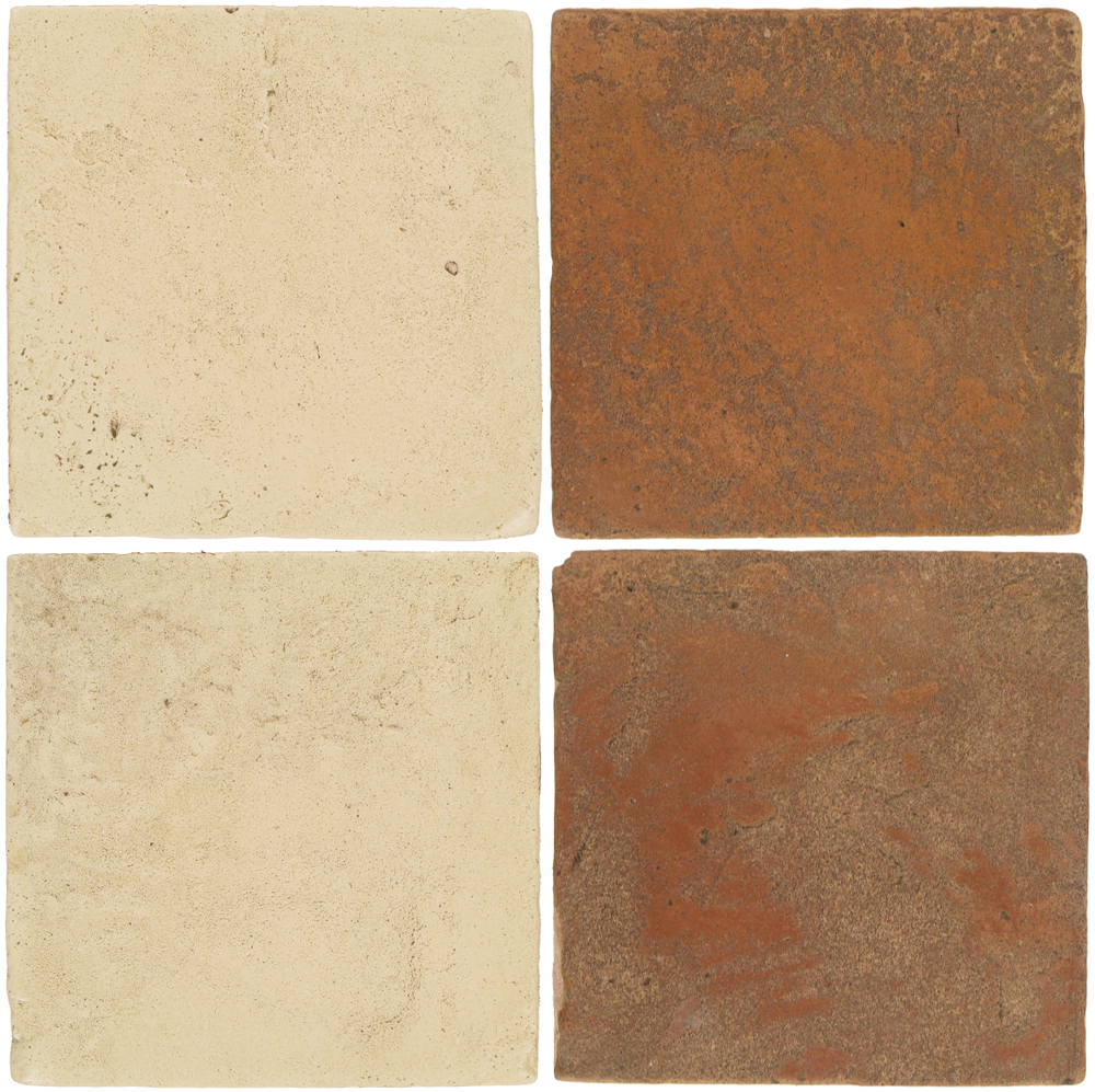 Pedralbes Antique Terracotta  2 Color Combinations  VTG-PGPW Pergamino White + VTG-PSTR Traditional