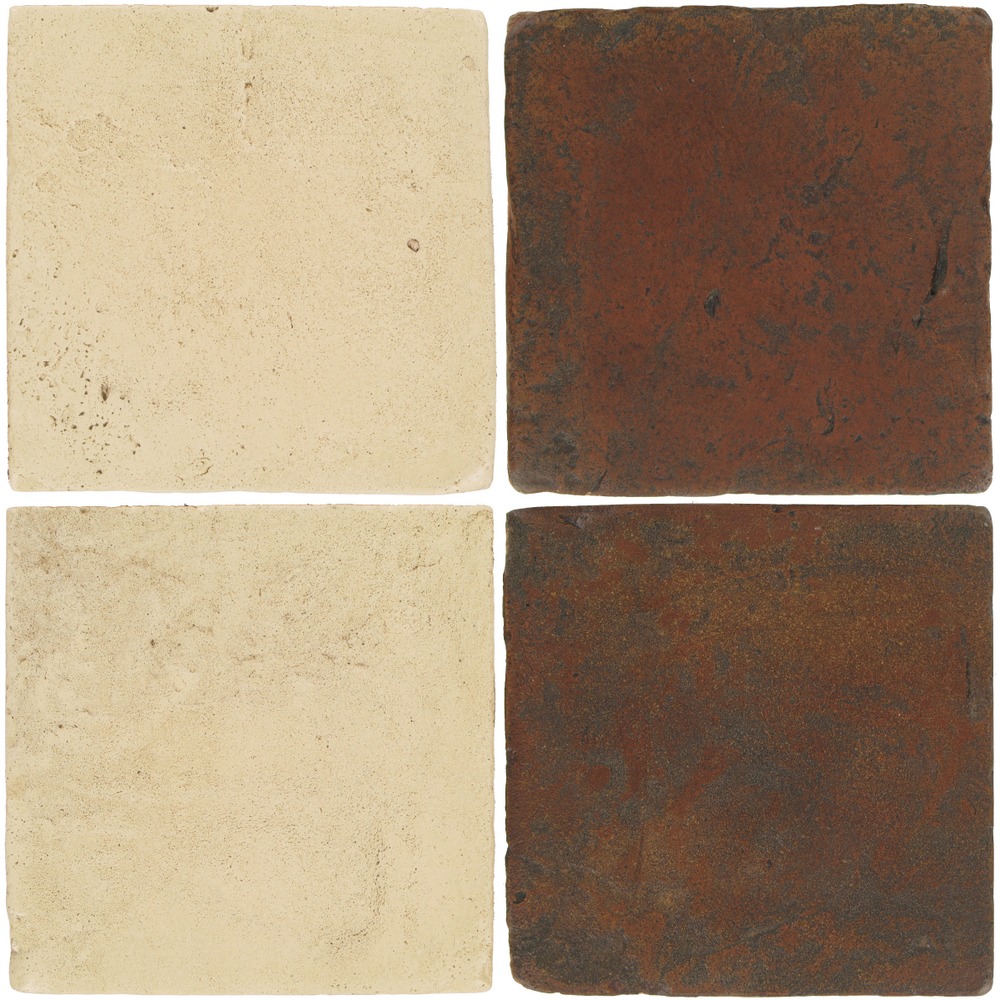 Pedralbes Antique Terracotta  2 Color Combinations  VTG-PGPW Pergamino White + VTG-PSOW Old World
