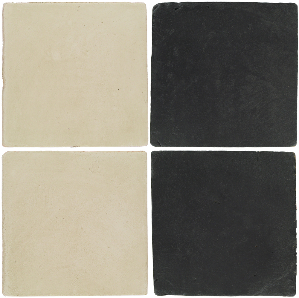 Pedralbes Antique Terracotta  2 Color Combinations  OHS-PGLW Glacier White + VTG-PGCB Carbon Black
