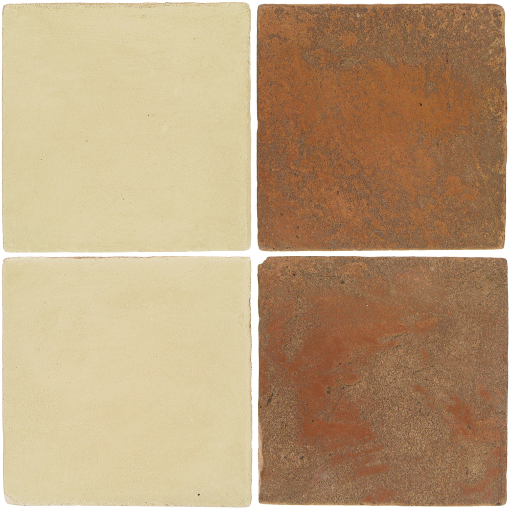 Pedralbes Antique Terracotta  2 Color Combinations  OHS-PGPW Pergamino White + VTG-PSTR Traditional