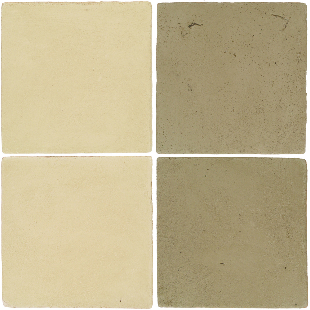 Pedralbes Antique Terracotta  2 Color Combinations  OHS-PGPW Pergamino White + VTG-PGDW Dirty W.