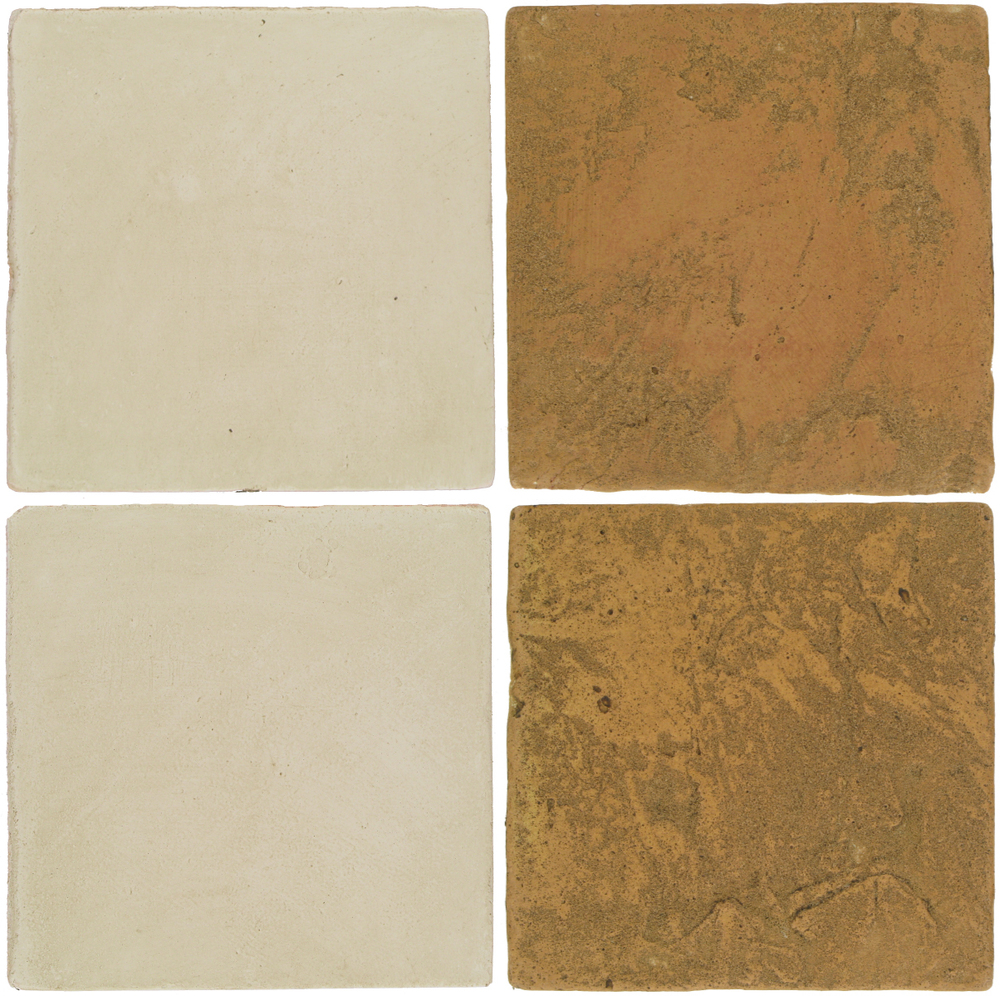 Pedralbes Antique Terracotta  2 Color Combinations  OHS-PGLW Glacier White + VTG-PSSW Siena Wheat