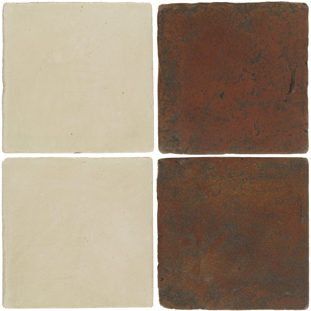 Pedralbes Antique Terracotta  2 Color Combinations  OHS-PGLW Glacier White + VTG-PSOW Old World