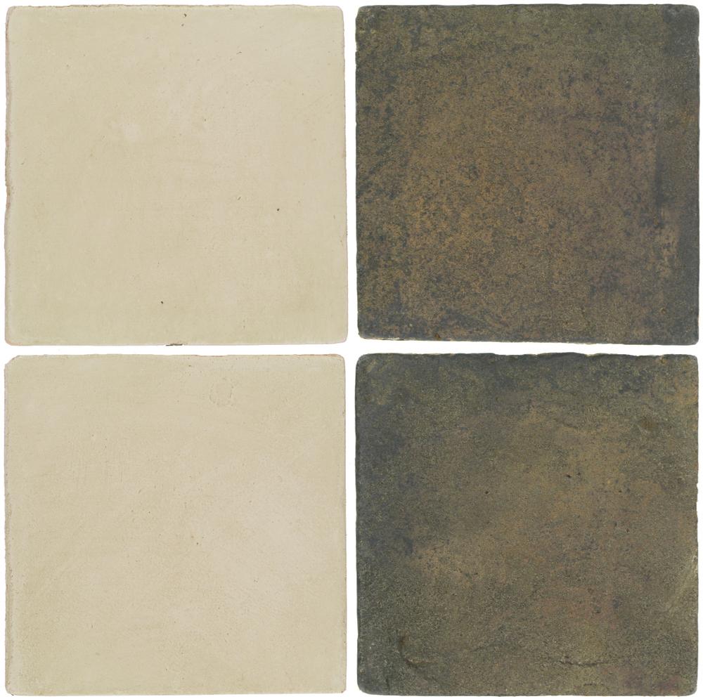 Pedralbes Antique Terracotta  2 Color Combinations  OHS-PGLW Glacier White + VTG-PSTG Terra Grey
