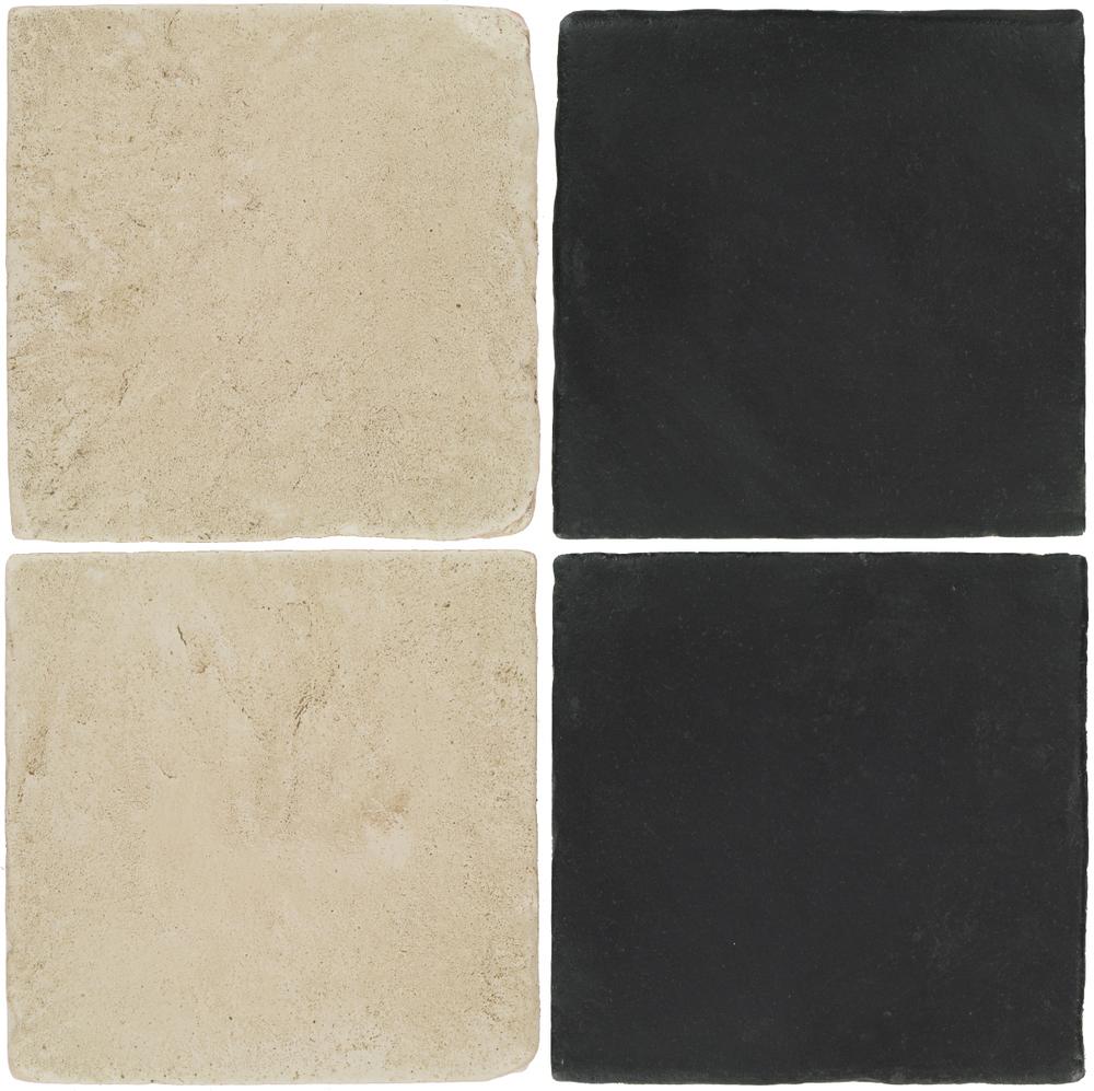 Pedralbes Antique Terracotta  2 Color Combinations  VTG-PGLW Glacier White + OHS-PGCB Carbon Black