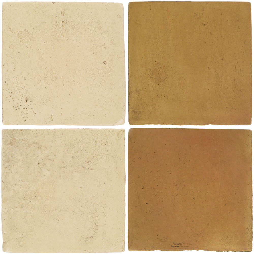 Pedralbes Antique Terracotta  2 Color Combinations  VTG-PGPW Pergamino White + OHS-PSSW Siena Wheat