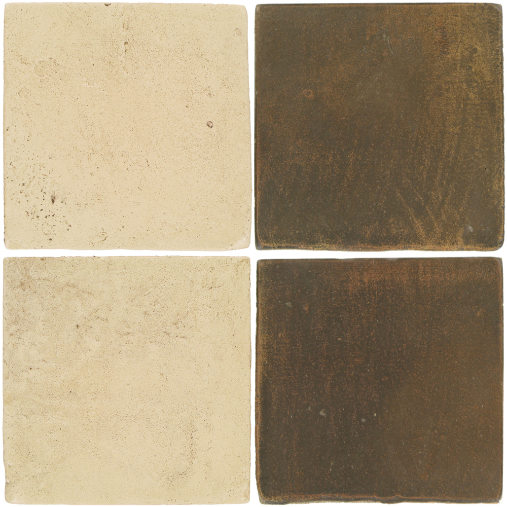 Pedralbes Antique Terracotta  2 Color Combinations  VTG-PGPW Pergamino White + OHS-PSVN Verona Brown