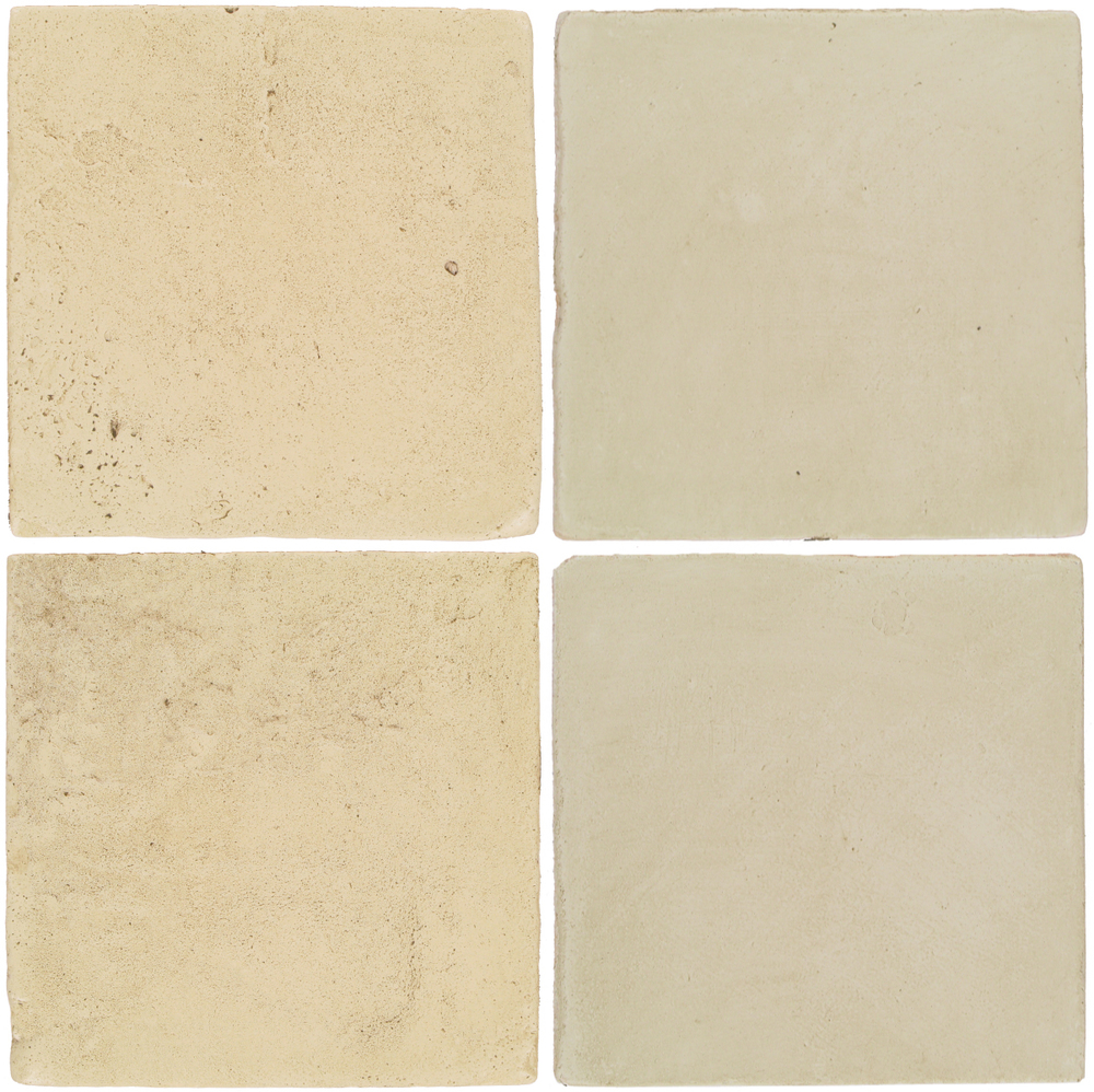 Pedralbes Antique Terracotta  2 Color Combinations  VTG-PGPW Pergamino White + OHS-PGLW Glacier White