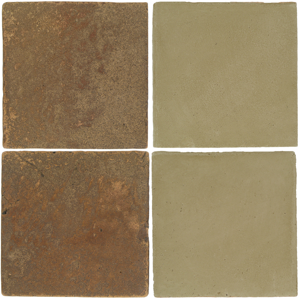 Pedralbes Antique Terracotta  2 Color Combinations  VTG-PSCM Camel Brown + OHS-PGDW Dirty W.