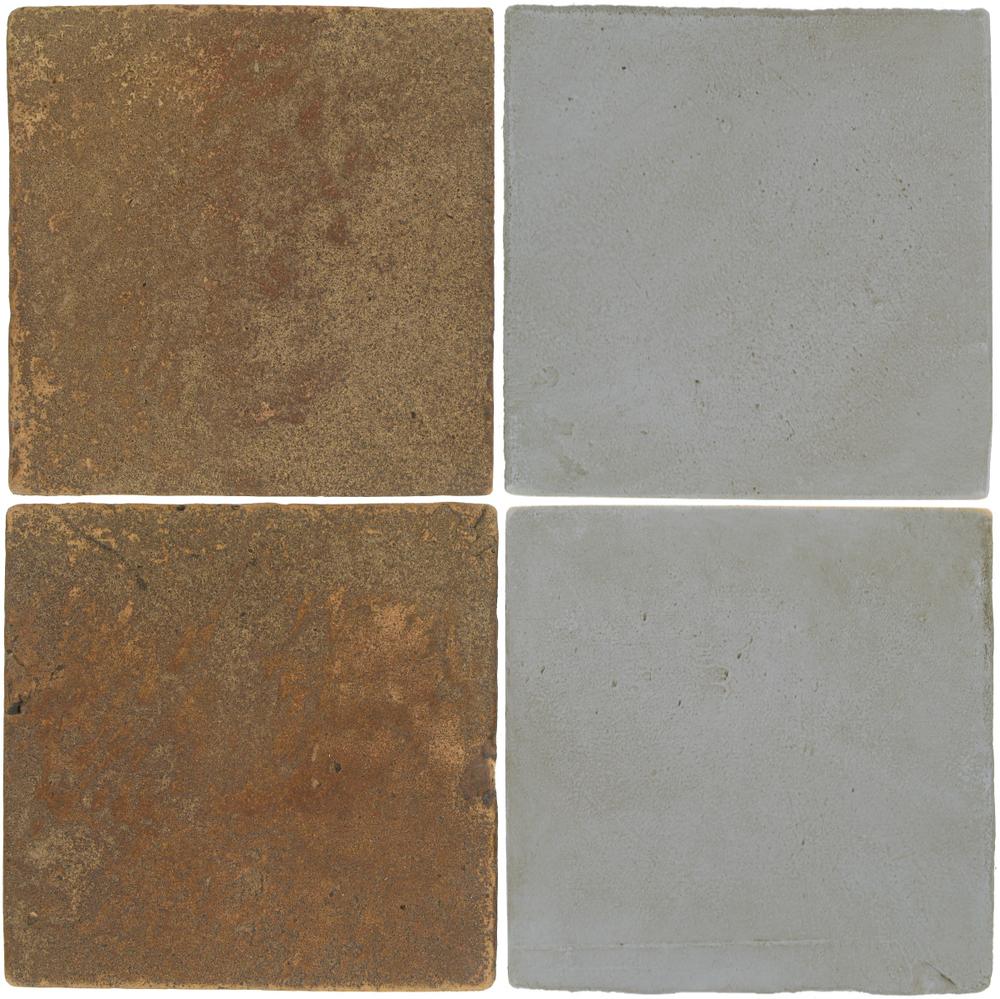 Pedralbes Antique Terracotta  2 Color Combinations  VTG-PSCM Camel Brown + OHS-PGOG Oyster Grey