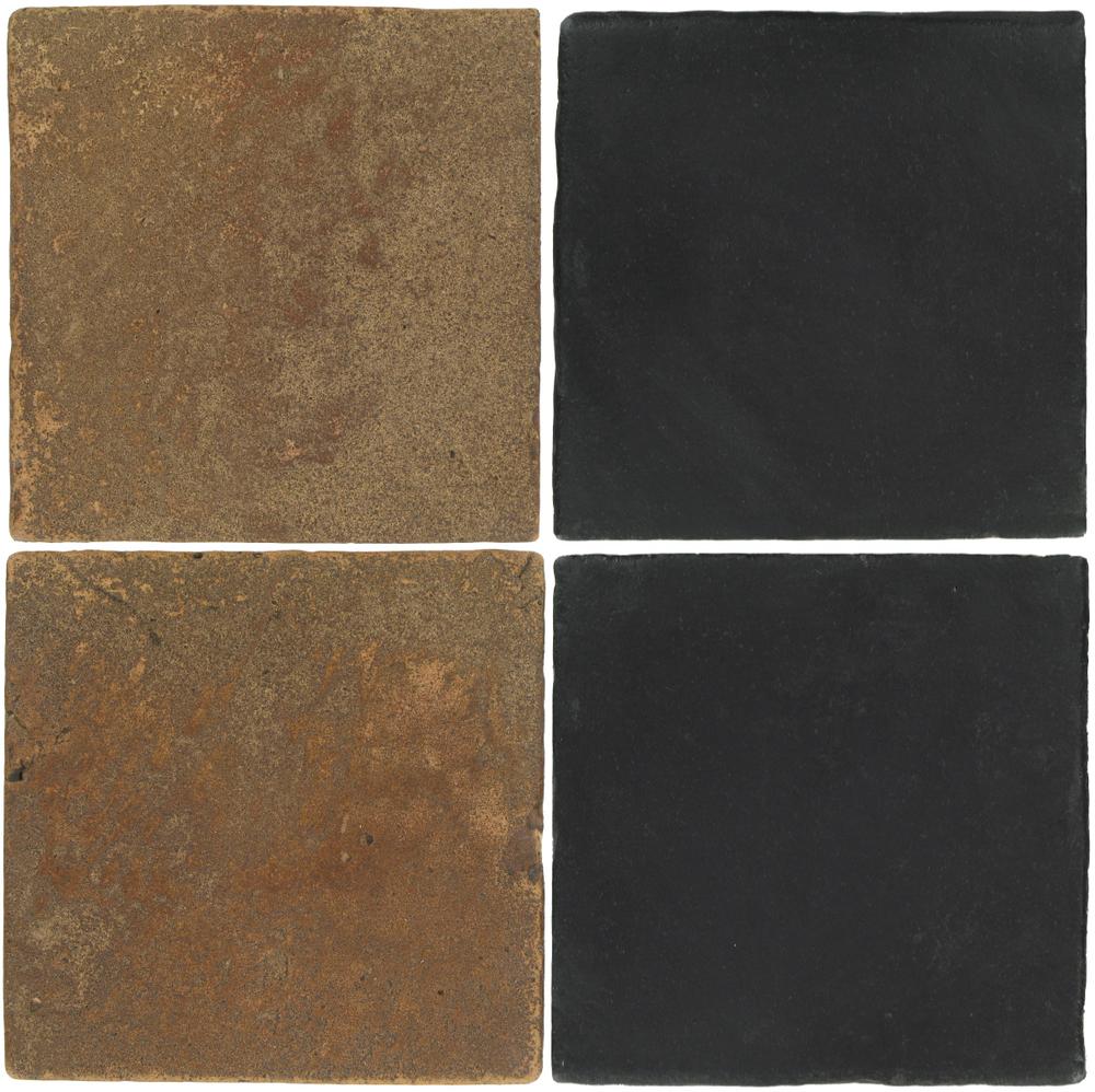 Pedralbes Antique Terracotta  2 Color Combinations  VTG-PSCM Camel Brown + OHS-PGCB Carbon Black