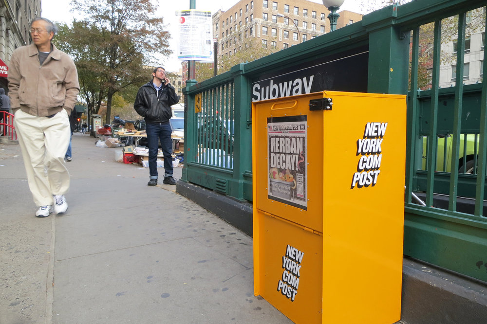 "In a brilliant and creative display of ingenuity, Artist Debbie Ullman partnered with Common Ground Compost to create these ""New York Com Post"" boxes, three of which are active in the city and accept compost. Photo: Debbie Ullman"
