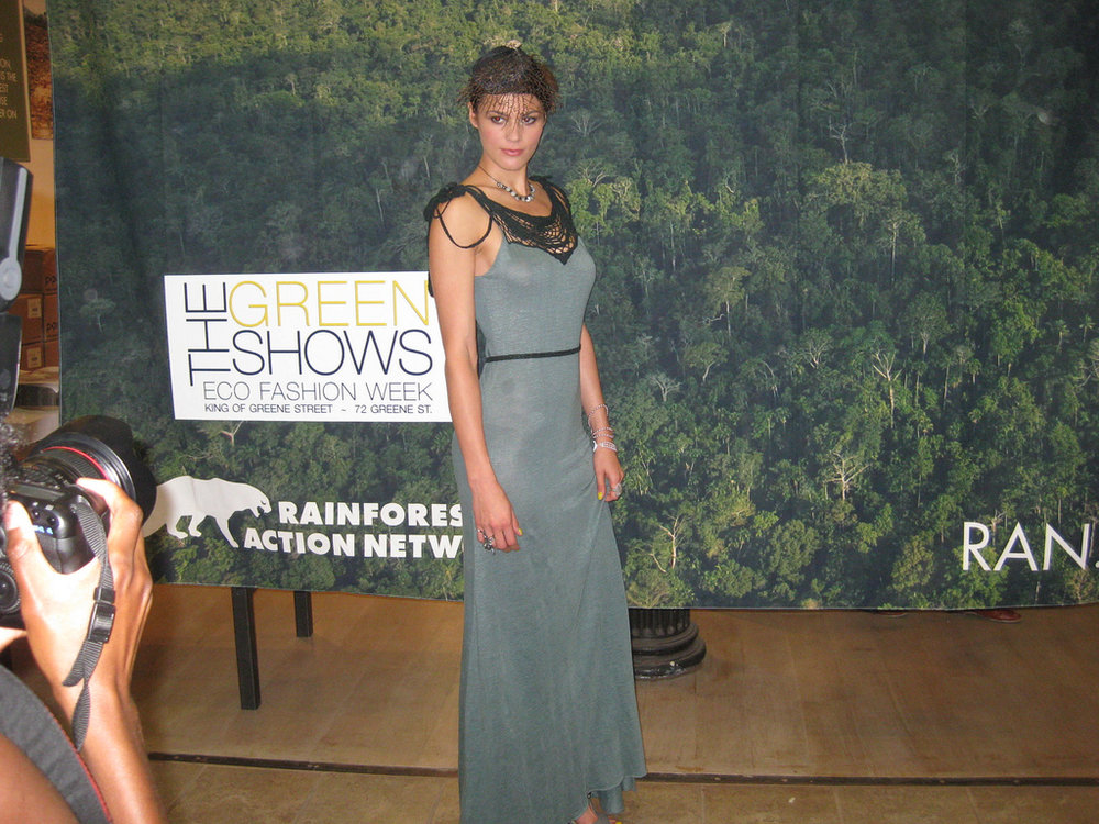 At the sustainable fashion event for the Rainforest Action Network activation.