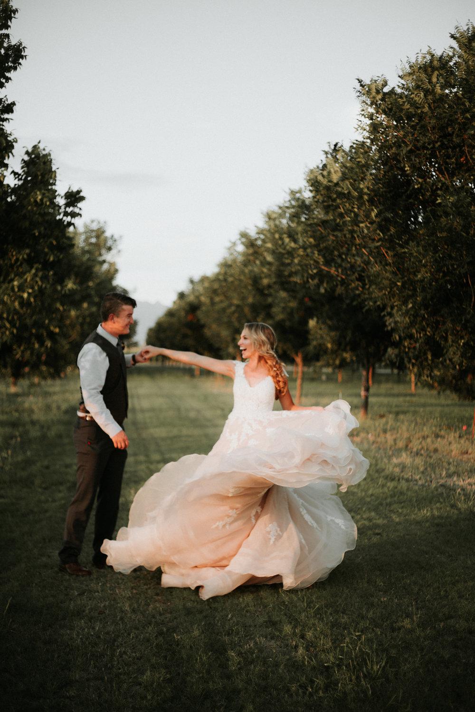 Taylor + Sarah - New Mexico backyard wedding