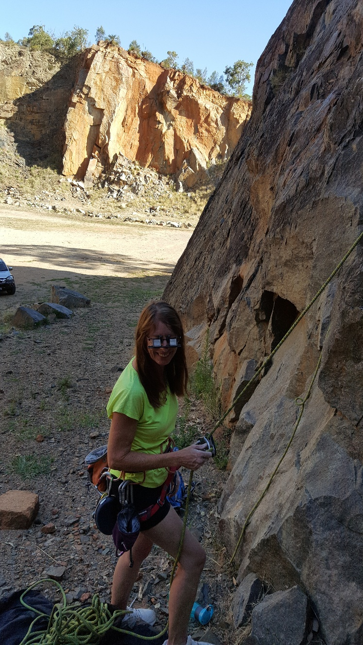 Linda Antoncich (Australia) wearing Belay Glasses by Belay Optics