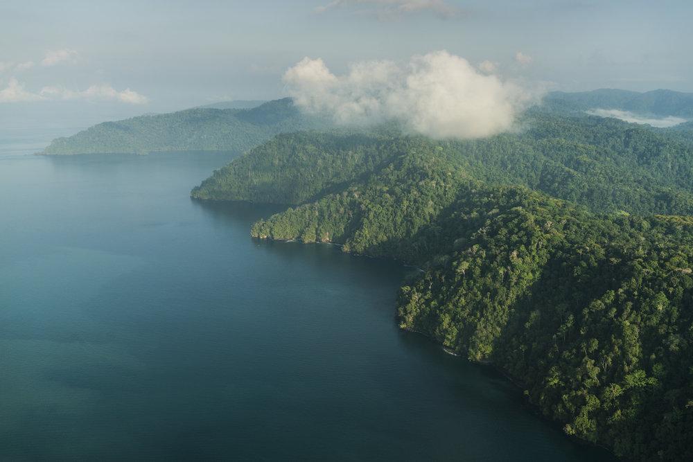Golfito / Costa Rica / foto desde avion