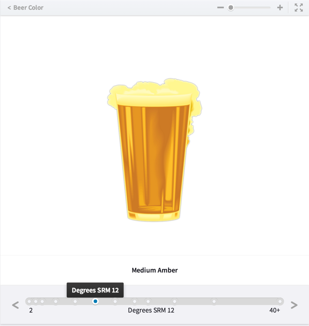 Interactive slideline illustrating beer color