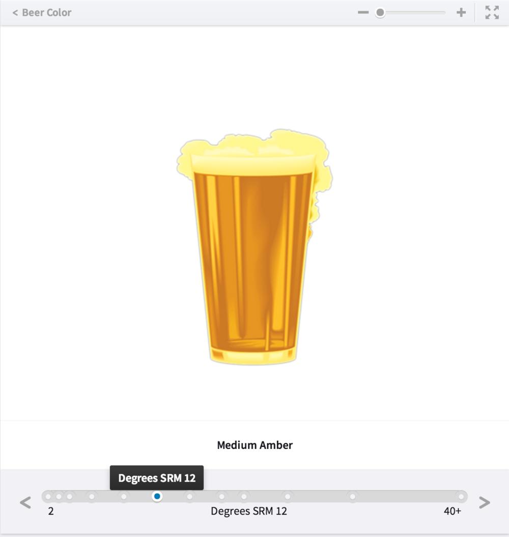 Interactive slideline illustrating beer color