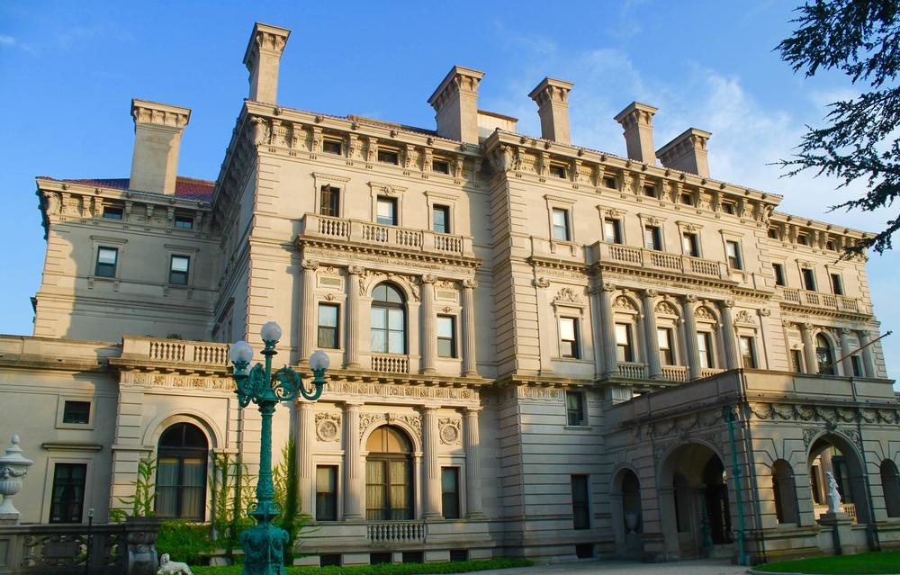Visiting the Vanderbuilt Mansion in Newport, Rhode Island.