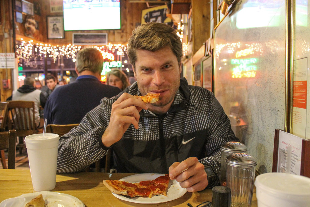 Pizza at Mark Anthony's in Onset.