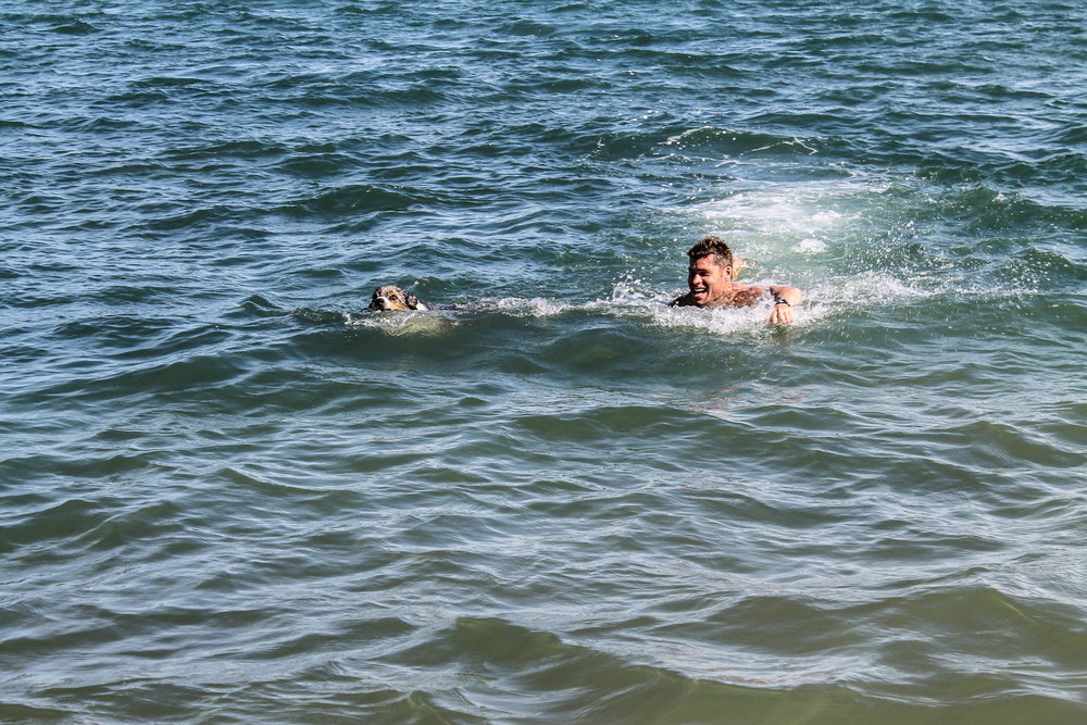 Swimming in Devonport.