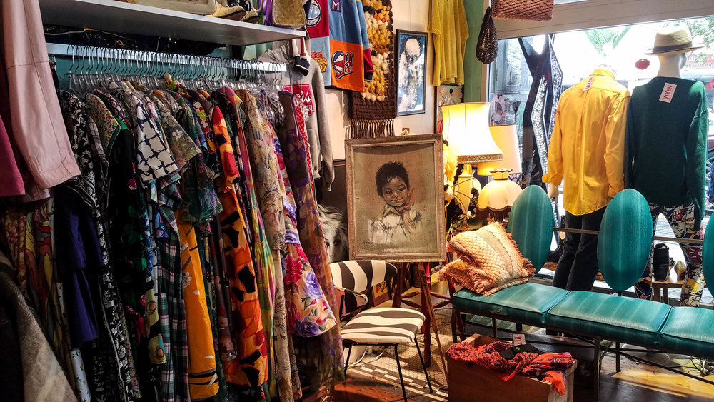 Vintage shopping on K Road.