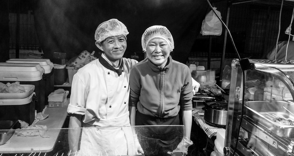 Our friends who fed us satay sticks at the Henderson Night Markets every Thursday.